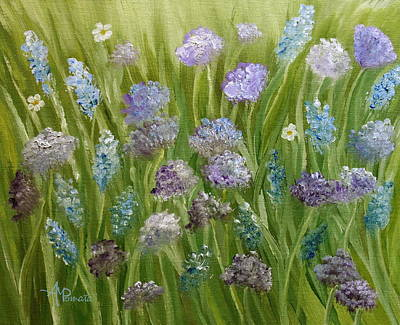 Andalucia Painting - Flowers Field by Angeles M Pomata