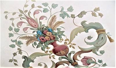 Painting - Flower's Flower Mural On Ceiling by Suzn Art Memorial
