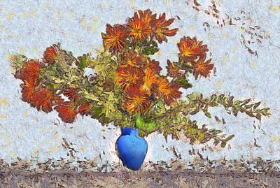 Digital Art - Flowers Flying Out Of Vase by Viktor Savchenko