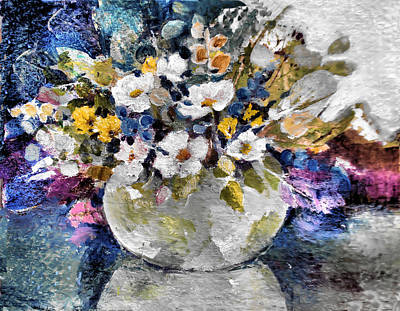 Painting - Flowers For A Grey Pot by Diane Ursin