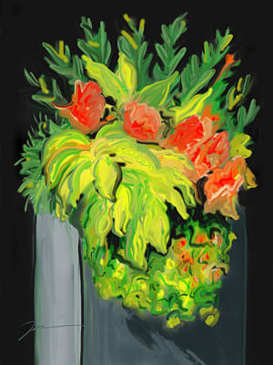 Painting - Flowers For Cricket by Jean Pacheco Ravinski