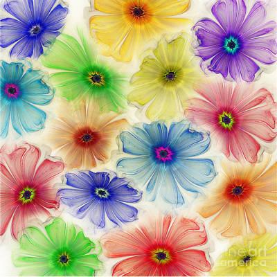 Flowers For Eternity Art Print by Klara Acel