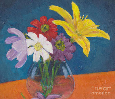 Painting - Flowers For Gary by Patricia Cleasby