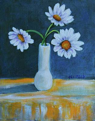 Painting - Flowers For Greta by Theresa Cangelosi