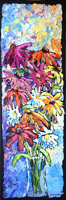 Painting - Flowers For Jojo by Carrie Jacobson