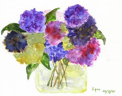 Painting - Flowers For Joyce by Afinelyne