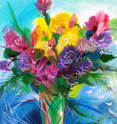 Painting - Flowers For My Jesus by Karen Showell