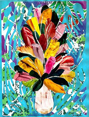 Florals Mixed Media - Flowers for My Mother by Sarah Loft