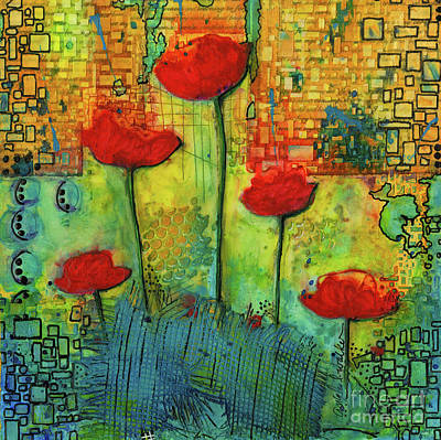 Mixed Media - Flowers For My Son - March 2016 by Angela L Walker