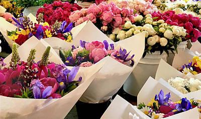Photograph - Flowers For Sale by Susan Crossman Buscho