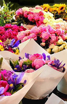 Photograph - Flowers For Sale2 by Susan Crossman Buscho