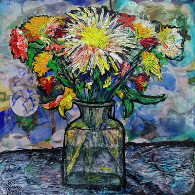 Painting - Flowers For The Artist 1 by Ron Richard Baviello