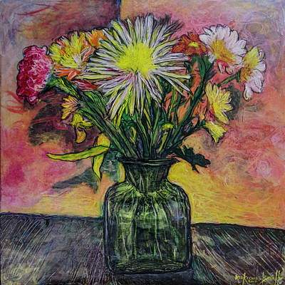Painting - Flowers For The Artist 2 by Ron Richard Baviello
