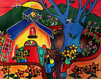 Painting - Flowers For The Church #2 by Jan Oliver-Schultz