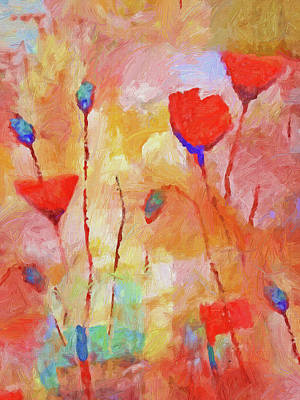 Painting - Flowers For You by Lutz Baar