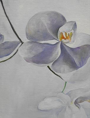 Flowers Frame 1 Art Print by Min Wang