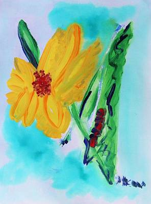 Flowers From Eden 1 Art Print by Mary Carol Williams