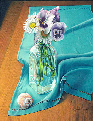 Drawing - Flowers From Johnny Linen From Noni by Donna Basile