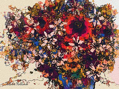 Designers Choice Mixed Media - Flowers From My Garden by Natalie Holland