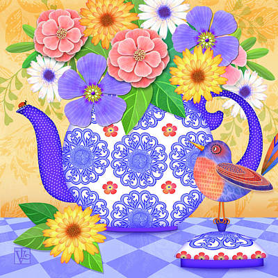 Digital Art - Flowers From The Garden by Valerie Drake Lesiak