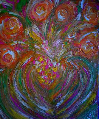 Flowers From The Heart Original by Marilyn St-Pierre