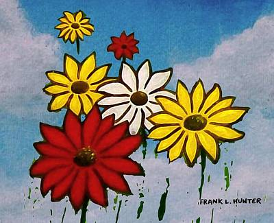 Painting - Flowers From The Sky by Frank Hunter