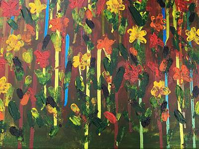 Pallet Knife Painting - Flowers Galore by Sue Dowdall
