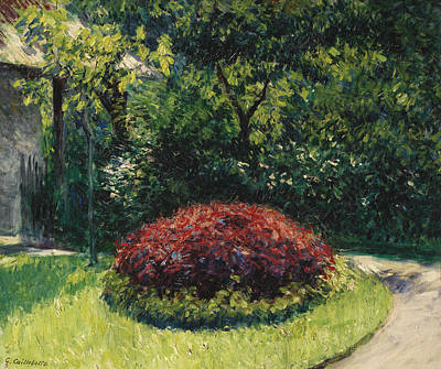 Painting - Flowers, Garden Of The Petit-gennevilliers Massif by Gustave Caillebotte