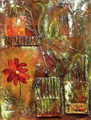 Painting - Flowers Grow Anywhere by Bellesouth Studio