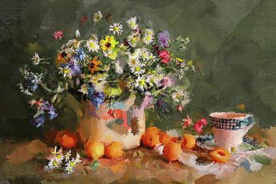 Digital Art - Flowers Impressions 2 by Yury Malkov
