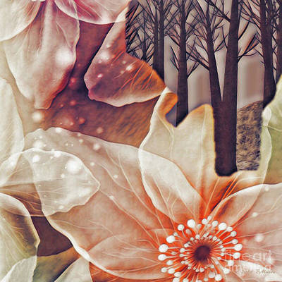 Mixed Media - Flowers In A Dead Forest by Barbara Milton