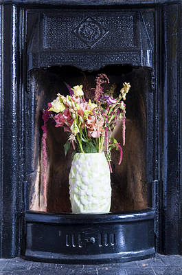 Photograph - Flowers In A Fireplace by Mick House
