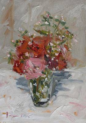 Painting - Flowers In A Glass by Owen Hunt