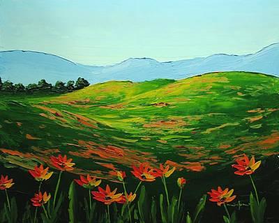 Flowers In A Meadow Art Print by Nolan Clark
