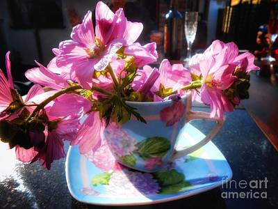 Photograph - Flowers In A Tea Cup by Joan-Violet Stretch