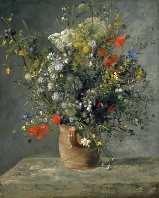 Painting - Flowers In A Vase by Auguste Renoir