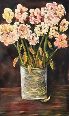 Painting - Flowers In A Vase by Chuck Gebhardt