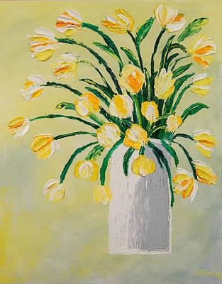 Flowers In A Vase Art Print by Diann Blevins