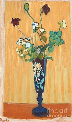 Moroccan Vase Painting - Flowers In A Vase by MotionAge Designs