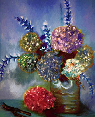 Photograph - Flowers In A Vase by Maria Coulson