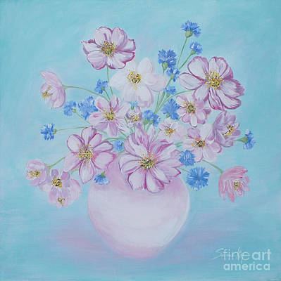 Painting - Flowers In A Vase. Delicate Home Collection by Oksana Semenchenko