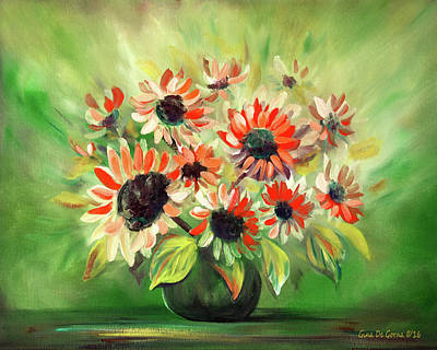 Painting - Flowers In A Vase Still Life by Gina De Gorna