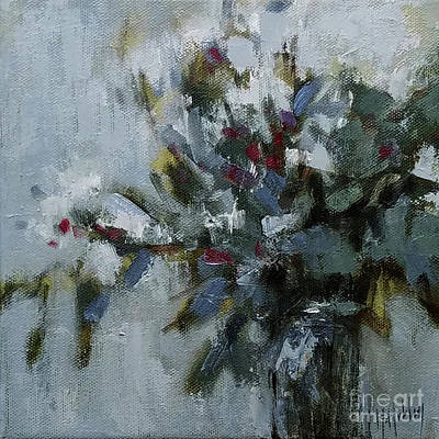 Painting - Flowers In A Vase - Subtle Delight by Mary Hubley