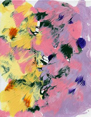 Painting - Flowers In Abstract 1 by Lori Kingston
