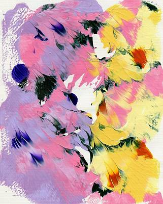 Painting - Flowers In Abstract 2 by Lori Kingston