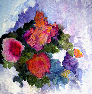 Painting - Flowers In Abstract by Sandy McIntire