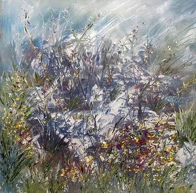Painting - Wild Flowers in Alaska by Michele Marie Catalano