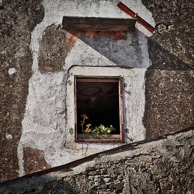 Photograph - Flowers In An Open Window - Croatia by Stuart Litoff