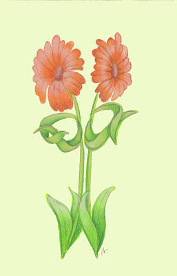 Flowers In Angry Pose Art Print