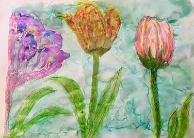 Tulips A'bloom Art Print